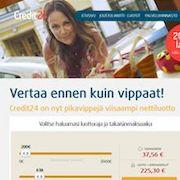 Markkinoiden edullisin kulutusluotto Credit24:ltä
